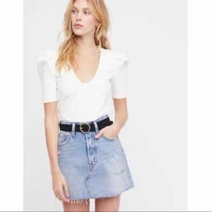 Free People Ellery Puff Sleeve Shirt